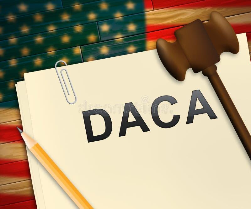 Daca-Kinderträumer-Gesetzgebung für uns Immigration - Illustration 3d stock abbildung