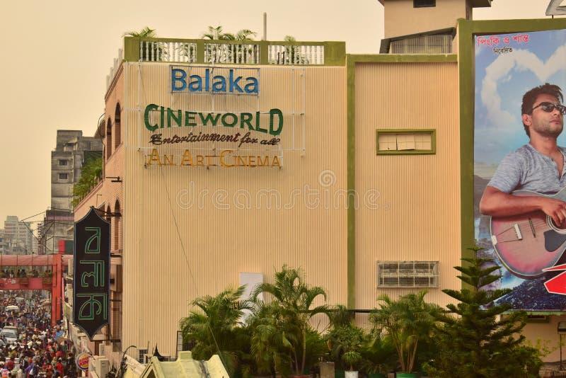 Dacca, Bangladesh, - 17 aprile, 2019: una bella vista del corridoio del cinema del balak immagini stock