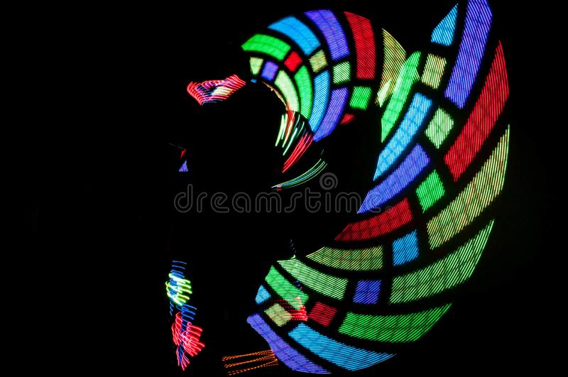 Dace of lights royalty free stock images