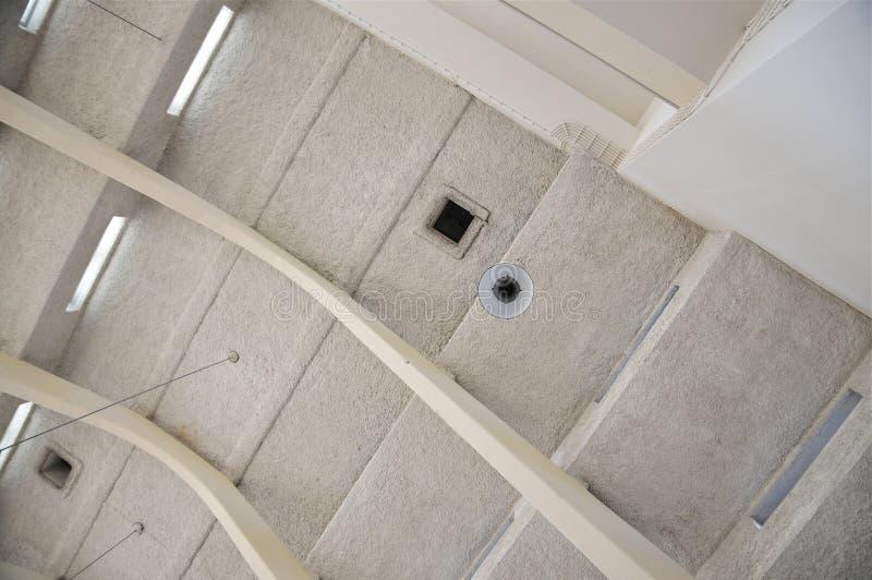 Dachów łuki zamknięci w górę Budować A, radio Kootwijk holandie obraz royalty free