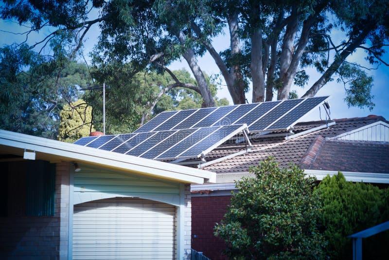 Dachów panel słoneczny obraz royalty free