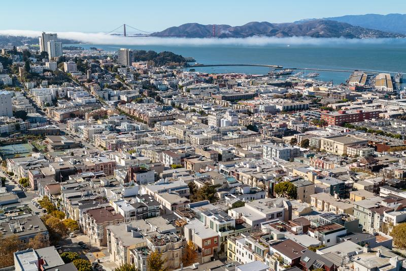 Dachów wierzchołki San Francisco zdjęcie royalty free