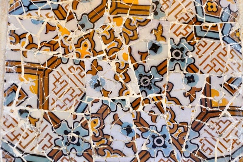 Dachówkowa Güell parkowa Sztuka zdjęcie stock
