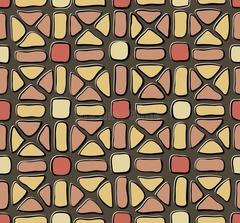 Dachówkowa mozaika koloru żółtego czerwień royalty ilustracja