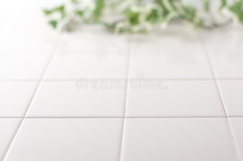 dachówkowy tło biel obraz stock