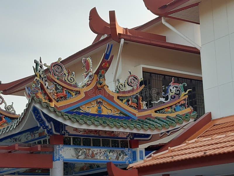 Dach architektury Batu Gantong Crematorium Penang obrazy stock