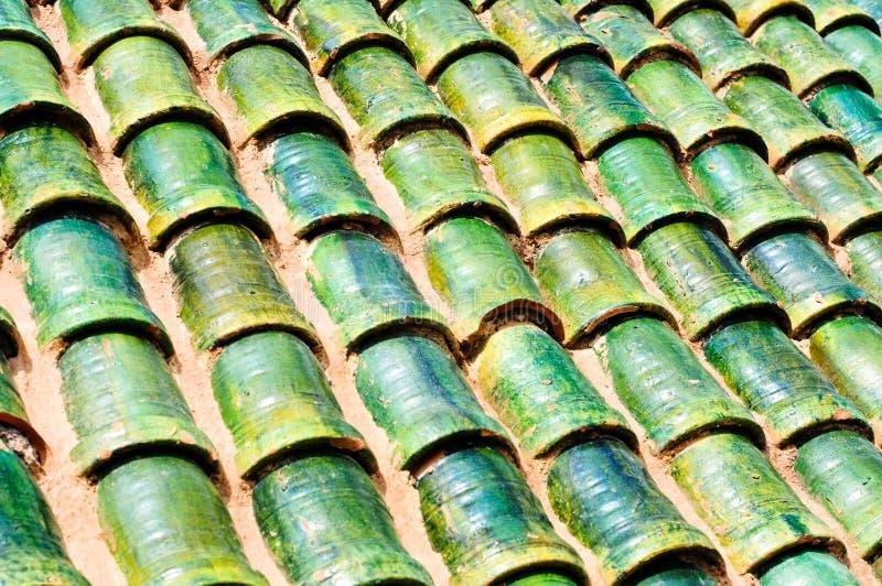 Dach auf dem Aufbauen in Marokko stockbilder