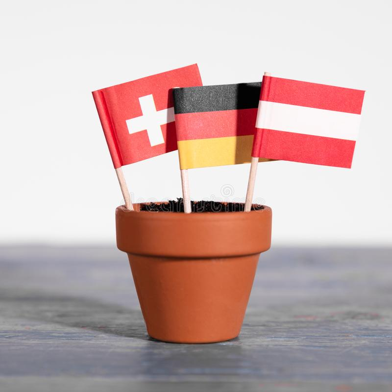 Free DACH Countries, Germany, Austria And Switzerland Royalty Free Stock Image - 124031906