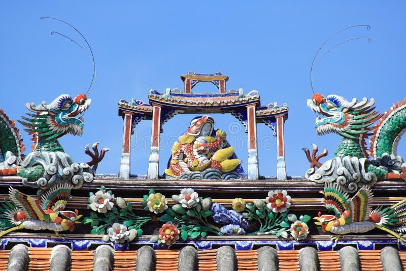 Dach des chinesischen Tempels stockfoto