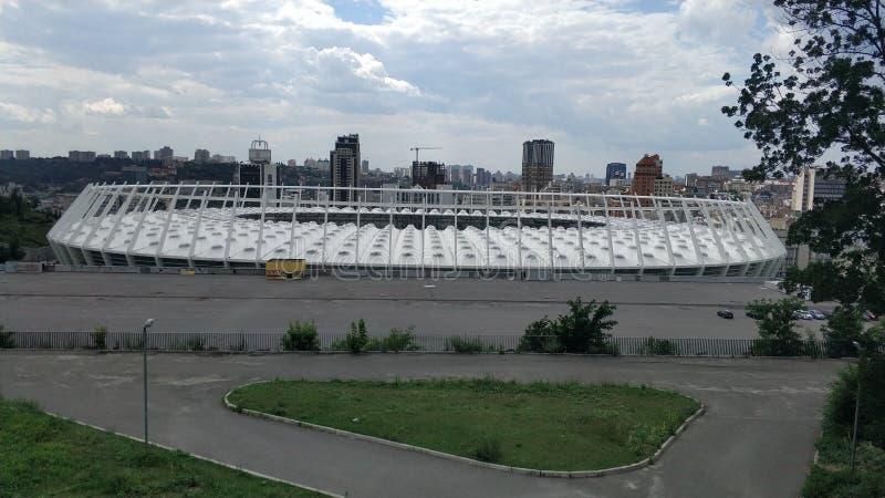 Dach des olympischen NSC in Kiew lizenzfreie stockfotos