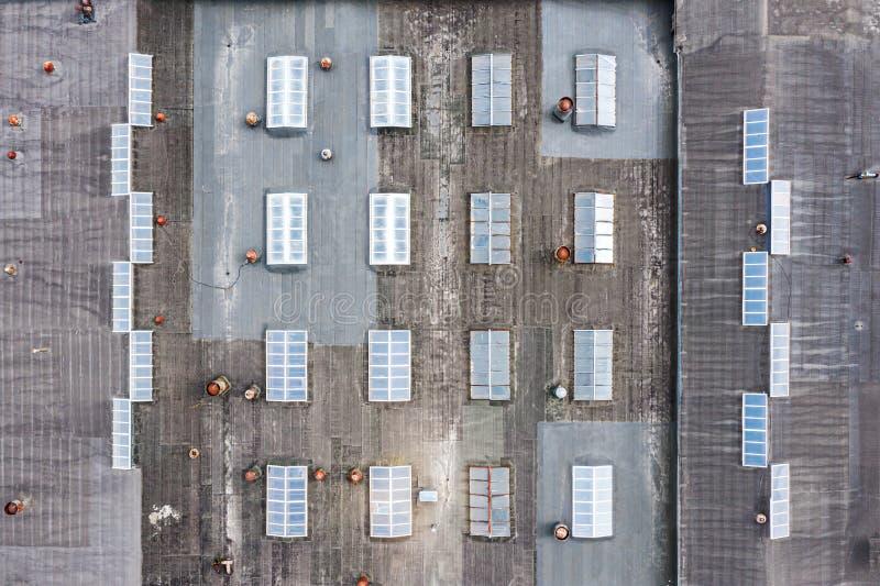Dach fabryczny budynek widok z lotu ptaka obrazy stock
