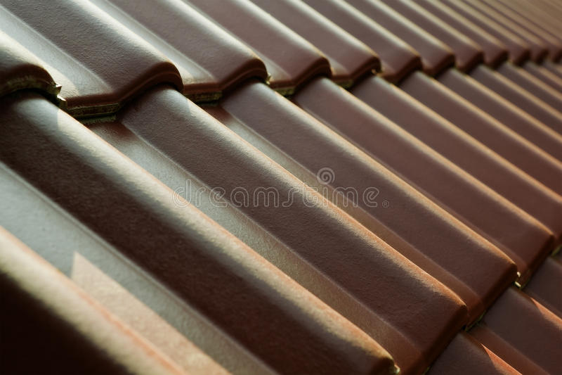 Dach-Fliesen stockfoto