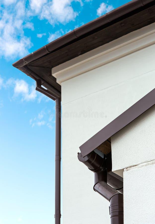 Dach i rynna zdjęcie stock