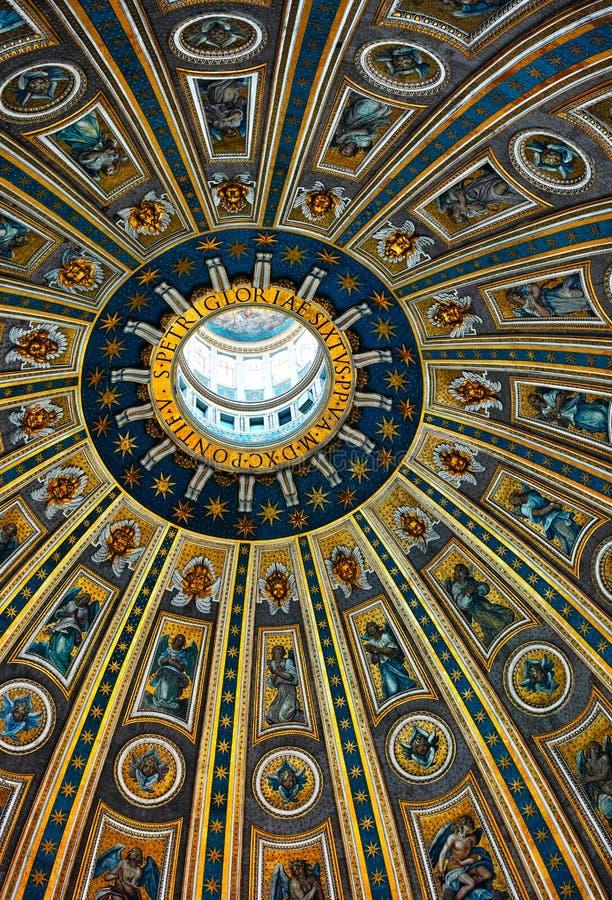 Dach innerhalb St. Peters Church lizenzfreie stockbilder