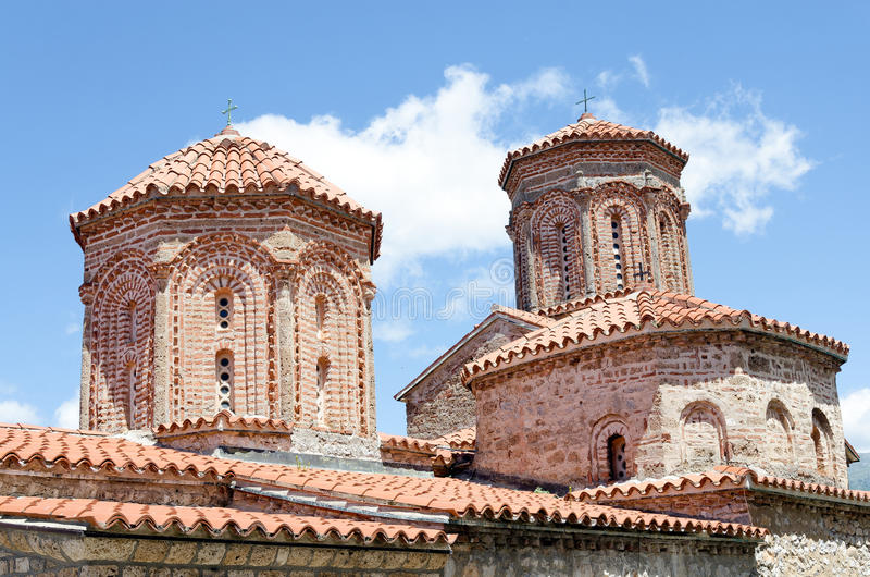 Dach monaster święty Naum obrazy stock