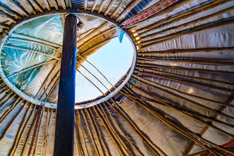 Dach mongoł Ger może otwierać na dobre wentylację obraz stock