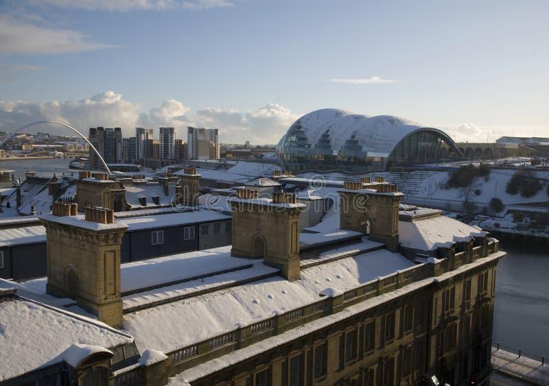 Dach-Oberseiten auf den Kaianlagen lizenzfreie stockfotos