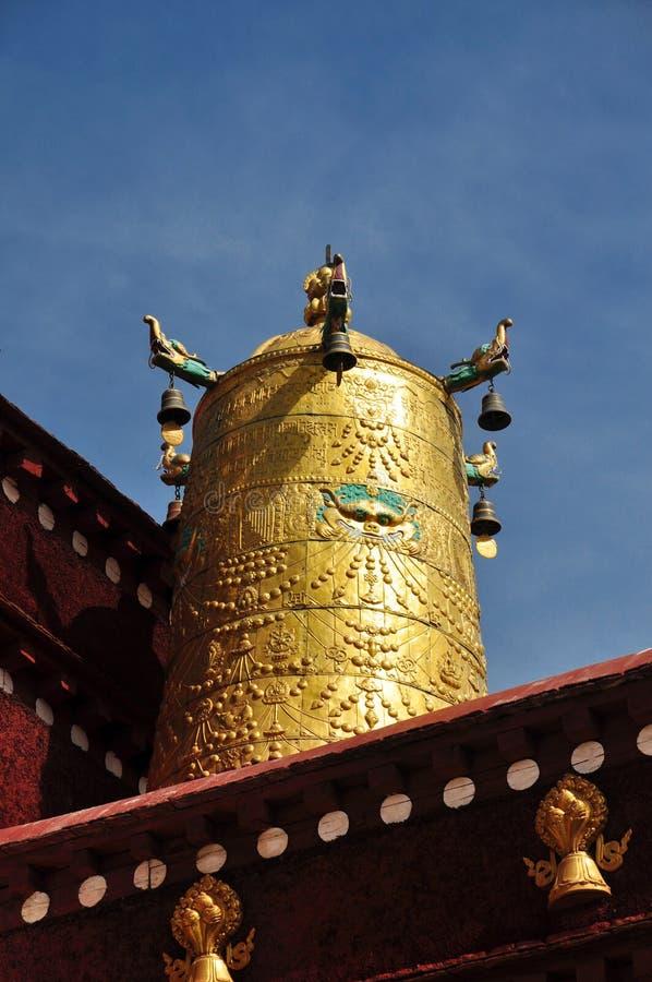 Dach Osiąga na Jokhang zdjęcia stock