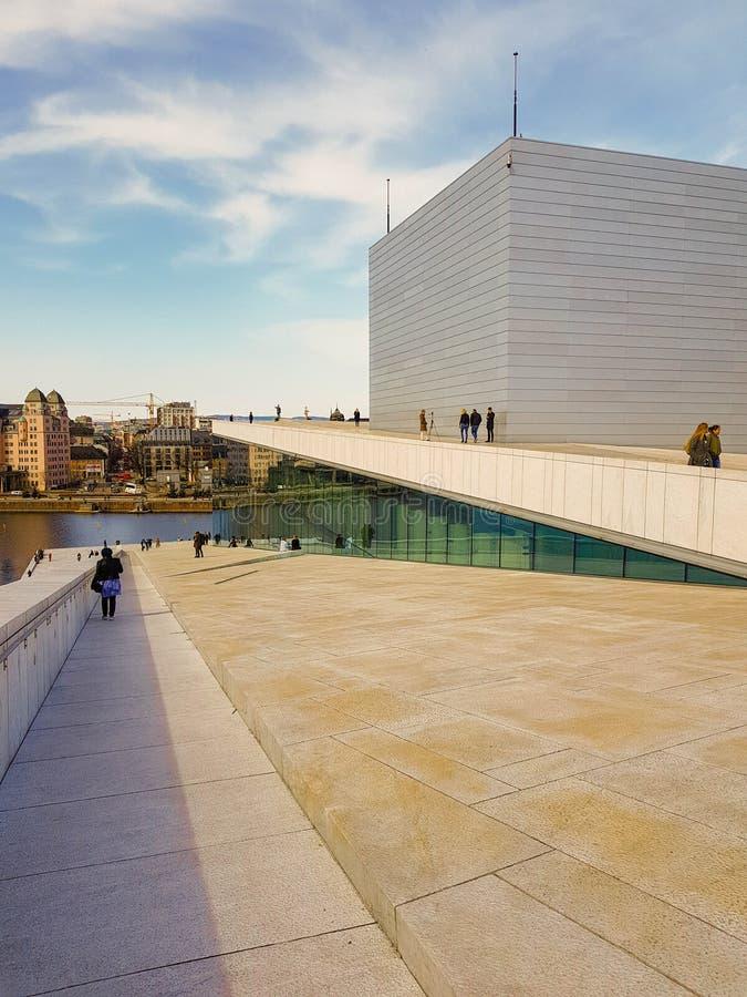 Dach Oslo opera, Norwegia fotografia royalty free