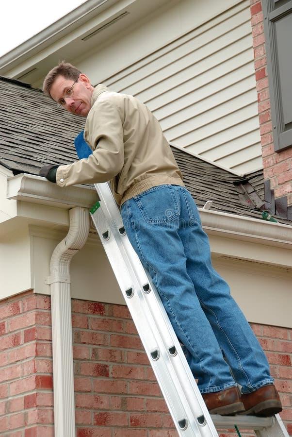 Dach-Reparatur stockbild