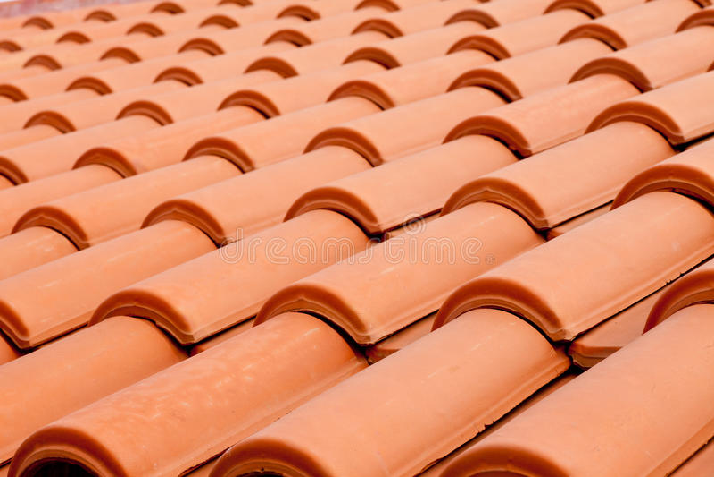 Dach schichtet Hintergrund stockfoto