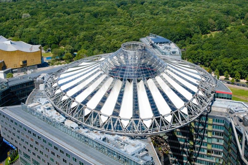 Dach Sony centrum przy Potsdamer Platz w Berlin obrazy royalty free