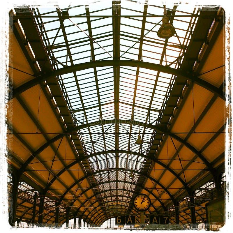 Dach Trainstation historisch stockbilder