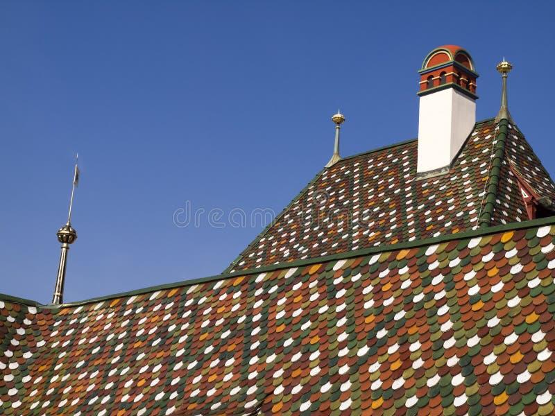 Dach von BaselRathaus stockfotografie