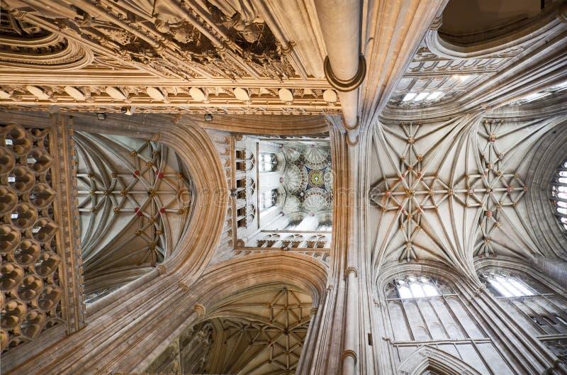 Dach von Canterbury-Kathedrale lizenzfreie stockfotografie