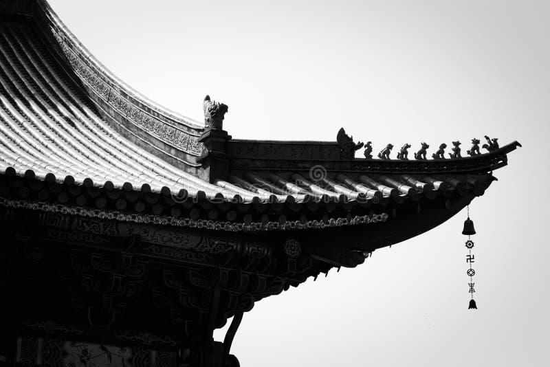 Dach von Yuantong-Tempel in Kunming lizenzfreie stockfotografie