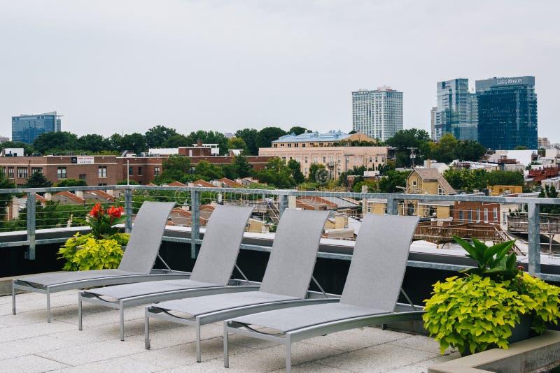 Dach w Federacyjnym wzgórzu, Baltimore, Maryland obraz royalty free