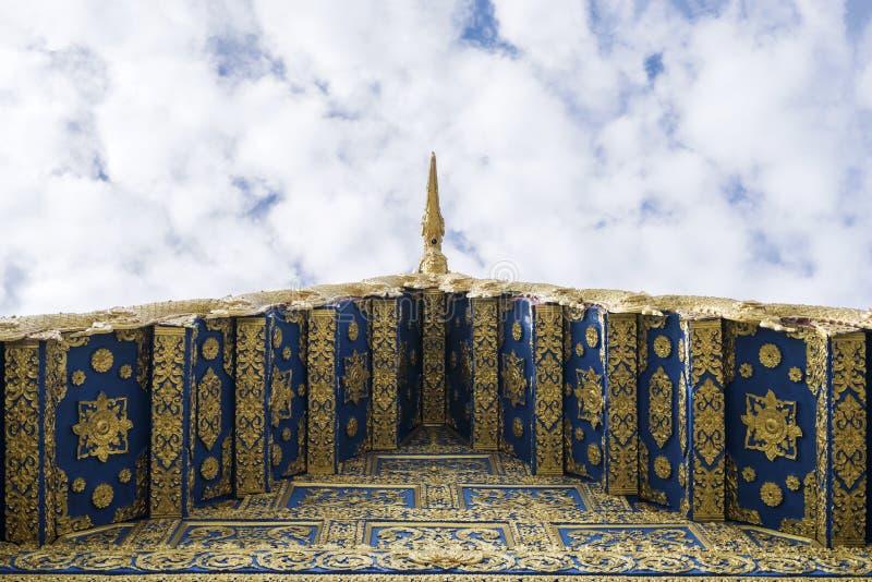 Dach Wat Rong Sua Dziesięć przy Chiang Raja, Tajlandia zdjęcie royalty free