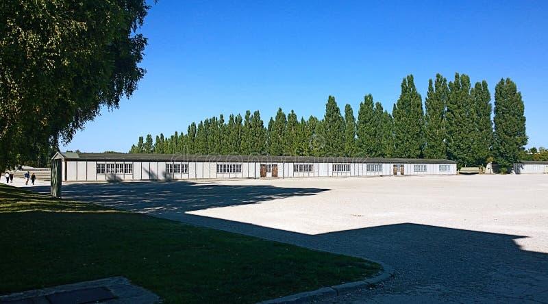 Dachau, Германия - взгляд концентрационного лагеря, теперь мемориальный s стоковые изображения rf