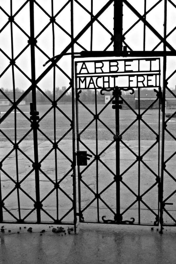 Dachau (главный вход) стоковые изображения rf