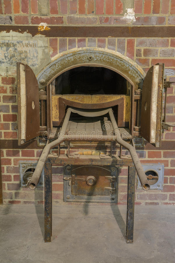 Dachau concentration camp oven crematorium royalty free stock photos