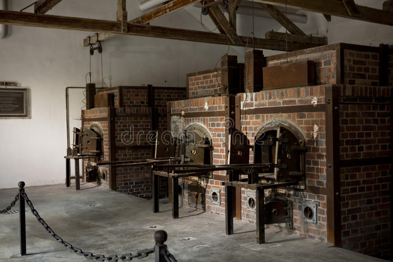 dachau crematorium концентрации лагеря стоковые фотографии rf
