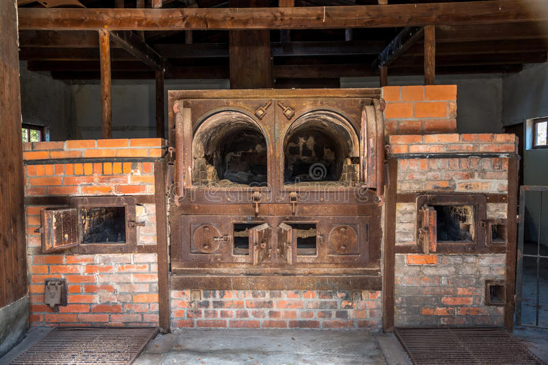 Dachau crematorium #1. The first crematorium built at the Dachau concentration camp was replaced after it could not keep up with the demand stock photo