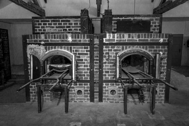 Dachau crematorium -2 w czarny i biały zdjęcie stock