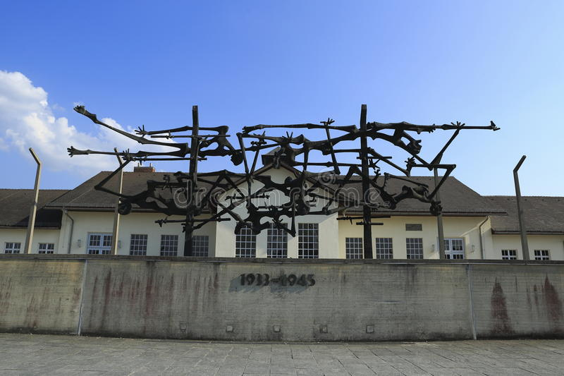 Dachau-Konzentrationslager lizenzfreies stockfoto