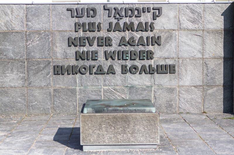 Dachau-Konzentrationslager nahe München, Deutschland stockfotografie
