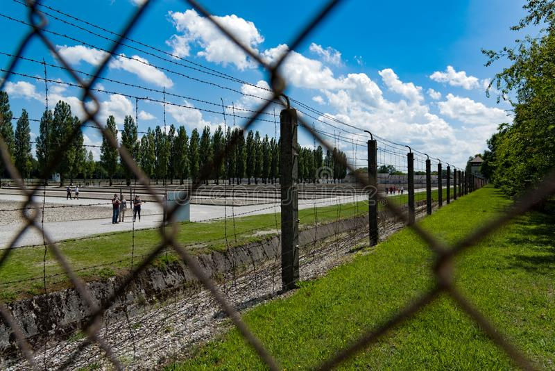 Dachau-Lager in Deutschland lizenzfreie stockfotos