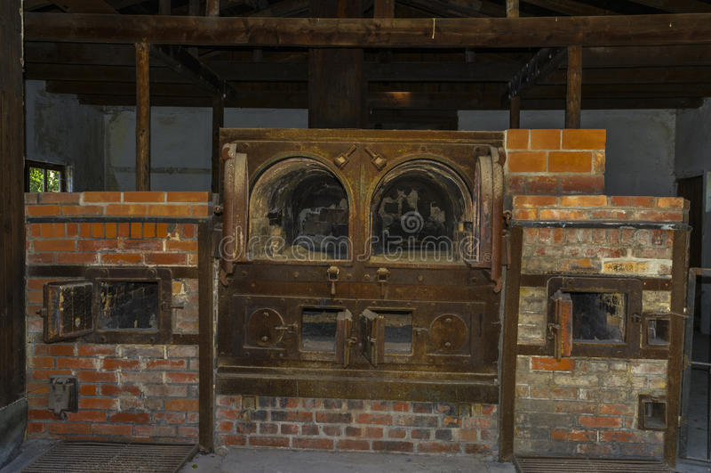 Dachau obozowych piekarników koncentracyjny crematorium zdjęcie royalty free