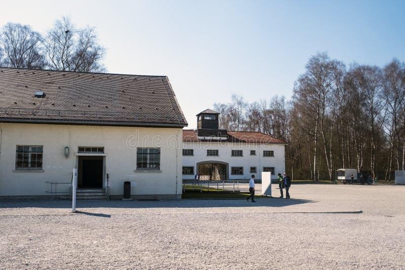 Dachau obozuje podczas Worl pierwszy koncentracyjny obóz w Niemcy zdjęcia stock