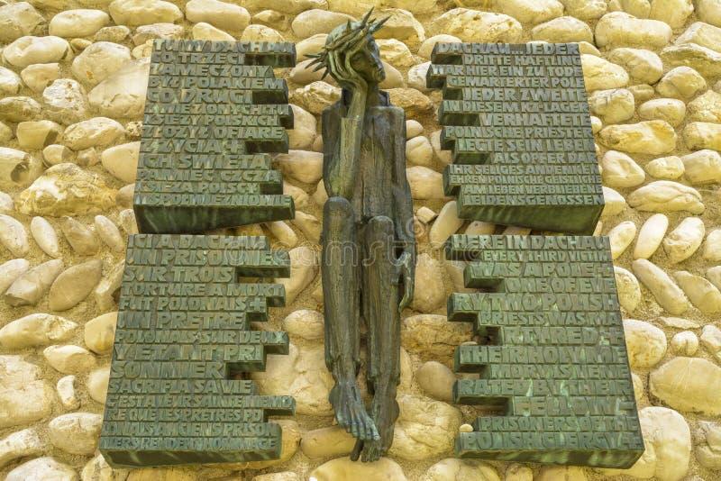 Dachau sad Jesus Christ detail memorial stock images