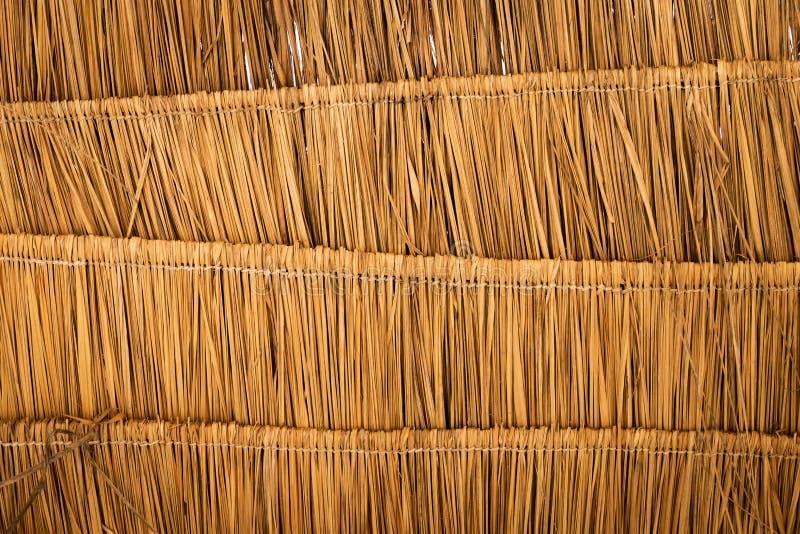 Dachbeschaffenheitshintergrund des trockenen Grases lizenzfreie stockbilder
