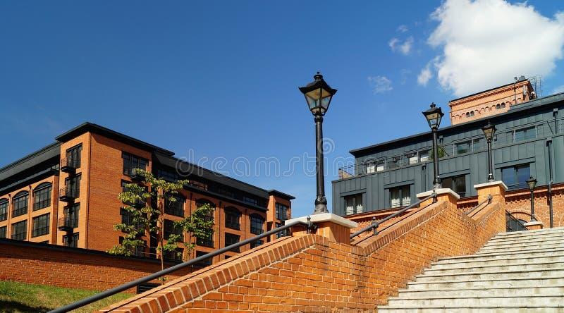 Dachboden Aparts in Lodz, Polen lizenzfreie stockbilder
