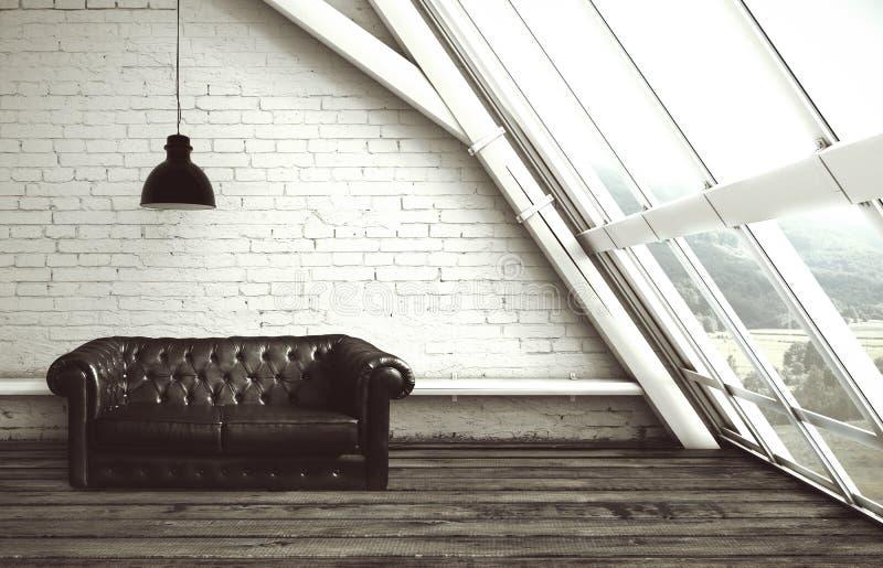 Dachboden mit Fenster vektor abbildung