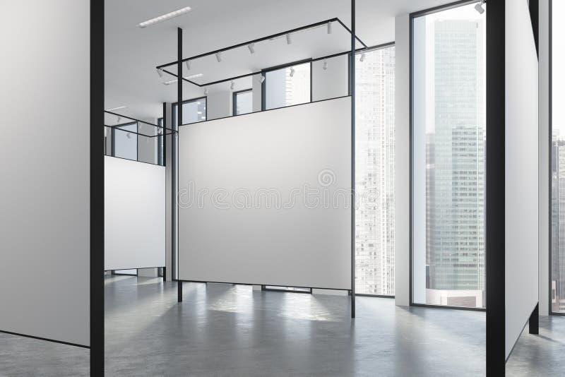 Dachbodengalerieinnenraum lizenzfreie abbildung