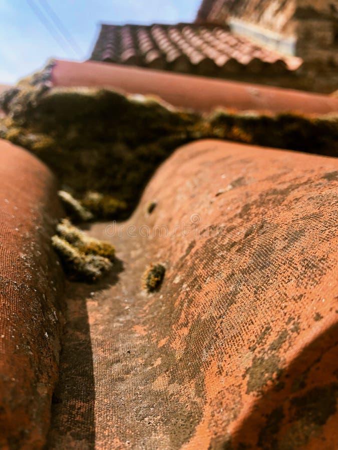 Dachdetailaltbau stockfoto