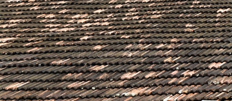 Dachhintergrundkeramikfliesen stockbilder